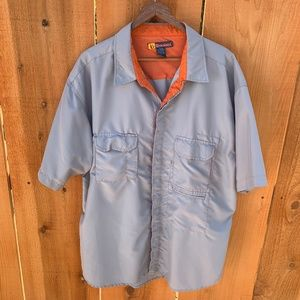 Burnside Vent Back Gray Short Sleeve Shirt XL